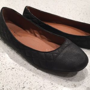 Lucky Brand quilted black flats, women's 7